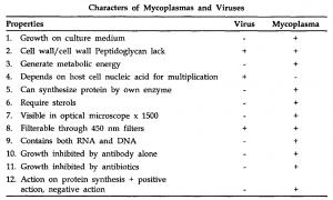 General Account on Mycoplasma